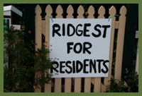 Ridge street for residents